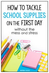 Alyssa shares tips to help you organize community school supplies on the first day of school!