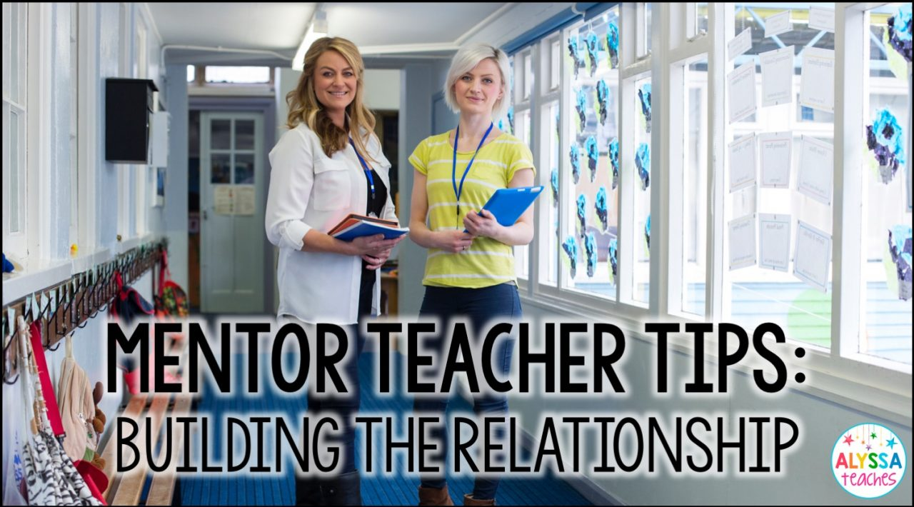 Are you a mentor teacher working with a new teacher? Click through to learn some tips for developing a relationship with your mentee!