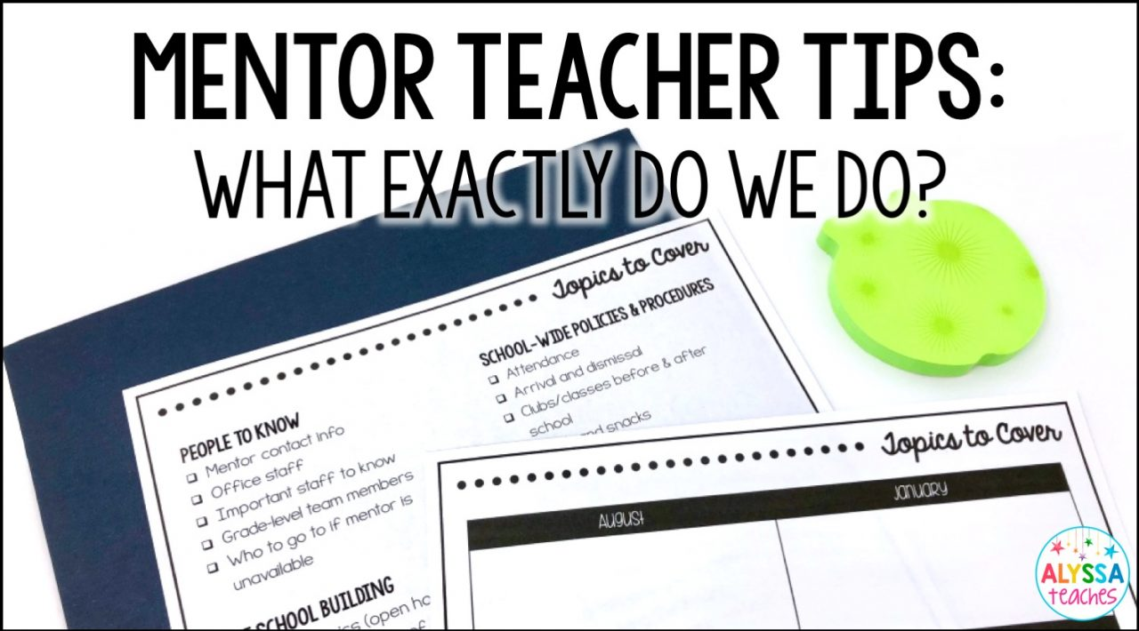 You've agreed to be a mentor teacher and you've met the new teacher. Now what do you do? Click through for some tips on planning, doing observations, and topics to cover!