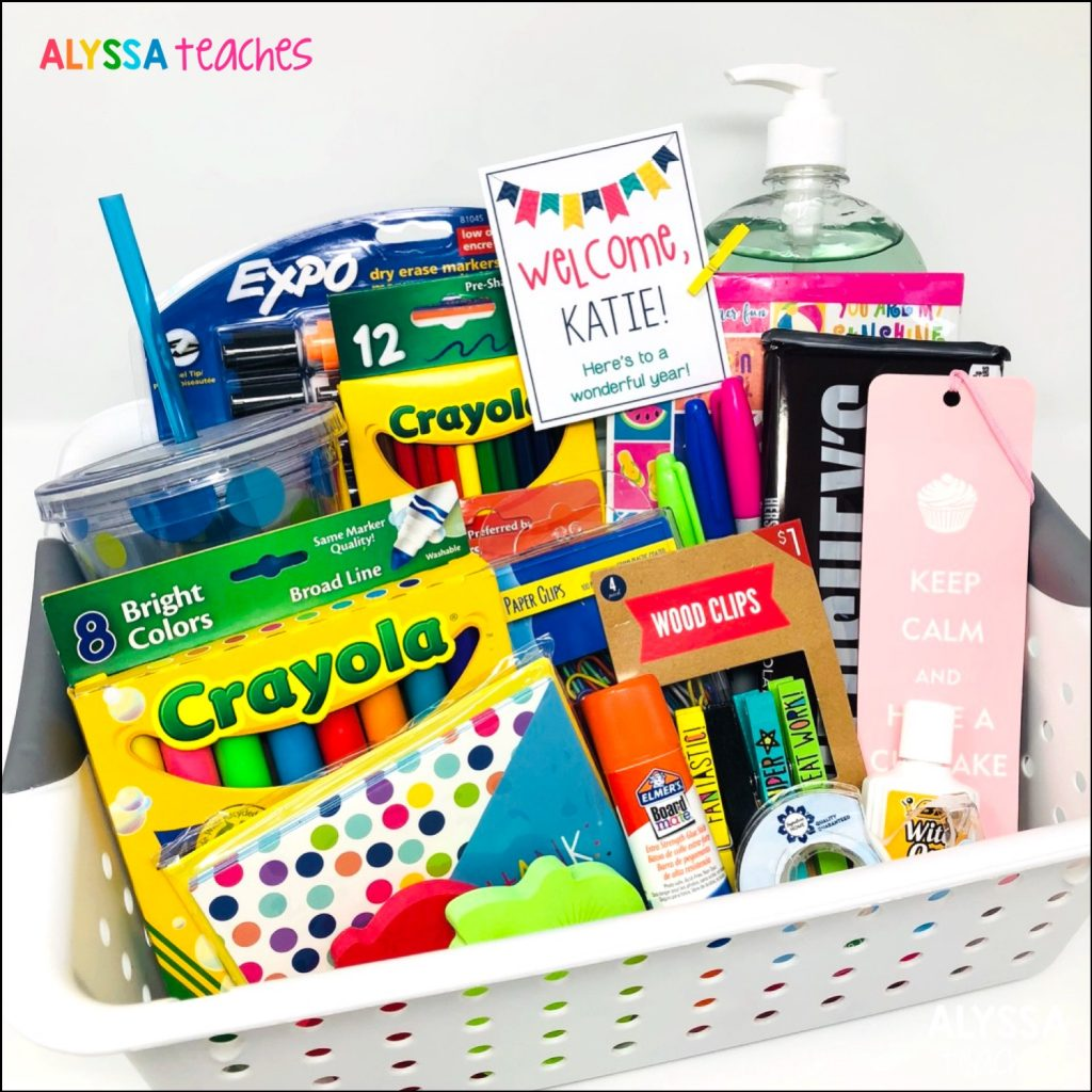 Mentor Teacher Tip: Make your new teacher feel welcome from Day 1 with a back-to-school welcome basket!
