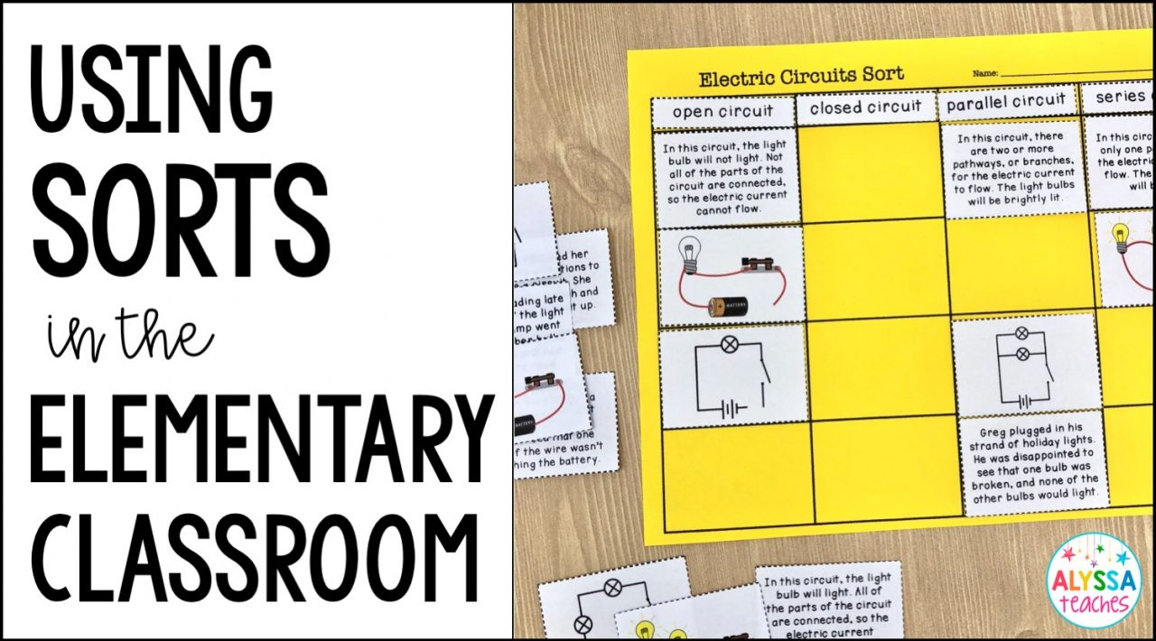 Ideas and tips for using sorts with your students in the elementary classroom!