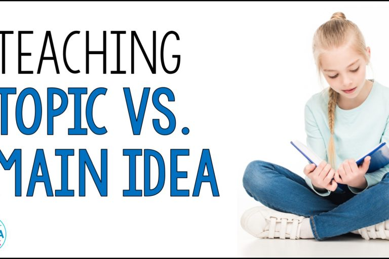 Topic vs main idea can be challenging for upper elementary students! Click through for some tips to make teaching topic and main idea easier in your reading workshop - and to grab a free graphic organizer!
