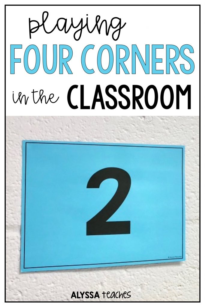 Students love playing Four Corners! This is a great icebreaker or active review game in the classroom.