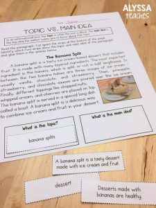 Topic vs main idea can be challenging for upper elementary students! Click through for some tips to make teaching topic and main idea easier in your reading workshop!