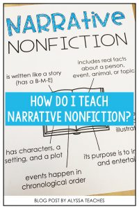 New to the narrative nonfiction unit? Grab some ideas to get started with your students and check out some awesome mentor texts!