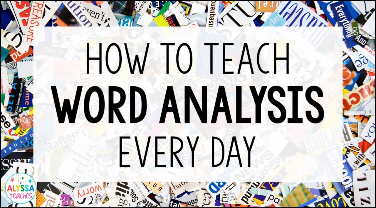 Upper elementary students really need to practice word analysis strategies all year long. Click through for some ideas about how to include word analysis instruction in your classroom every day!