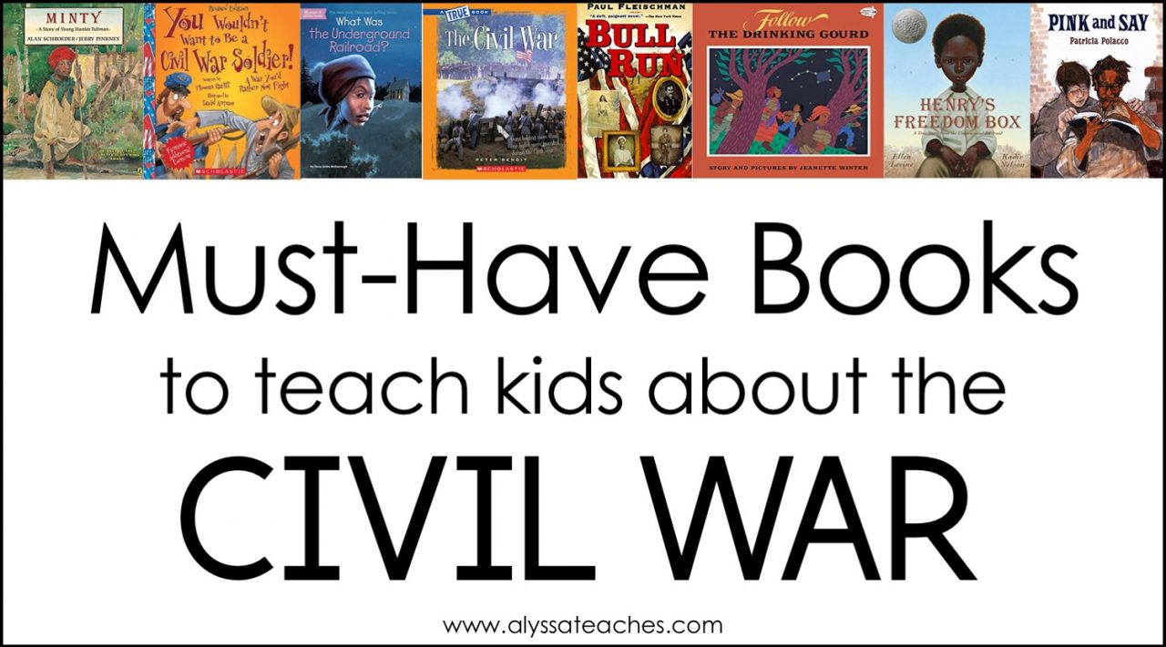 Here are some of my favorite fiction and nonfiction trade books, biographies, picture books, and chapter books to use to teach an upper elementary Civil War unit.