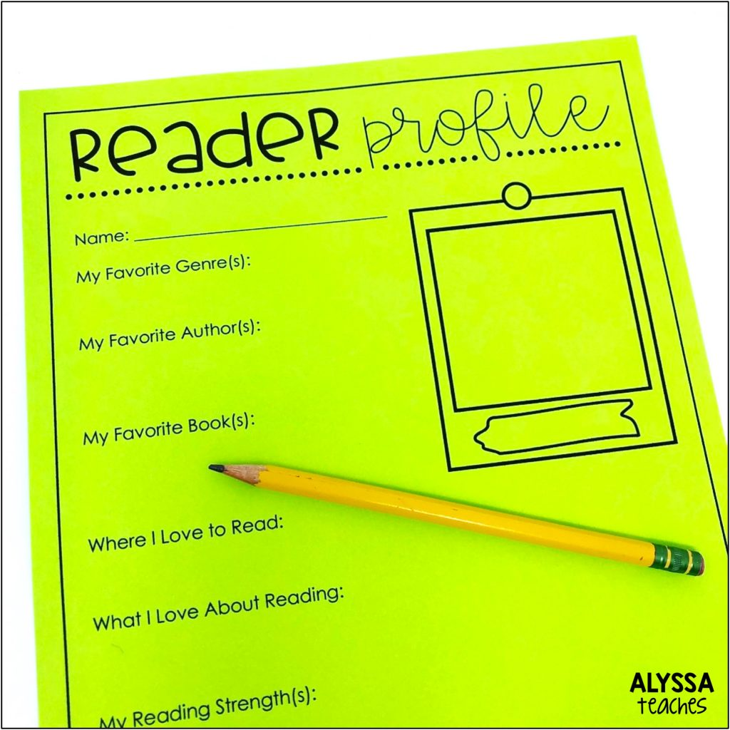 Ask students to fill out a reading interest survey or reader profile so you can get to know their reading life. | Alyssa Teaches