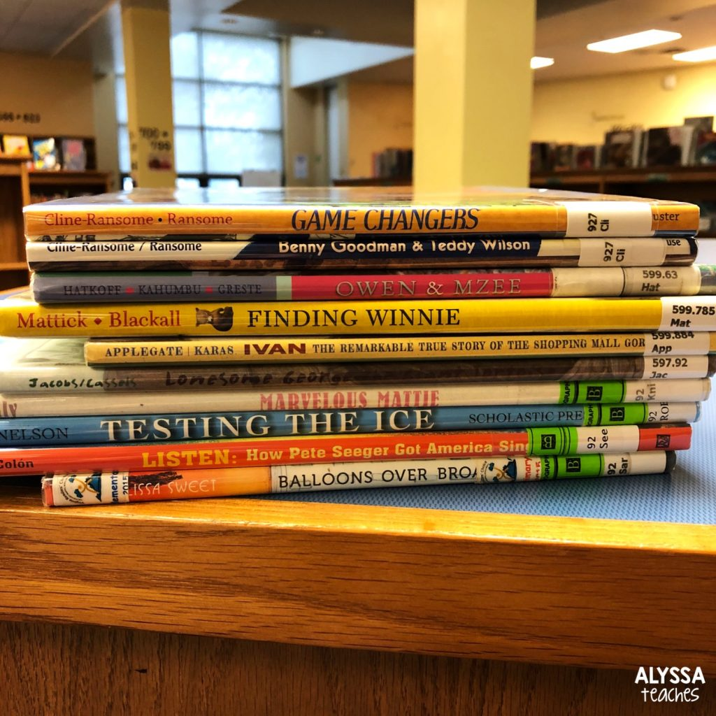 Take a picture of the books you're using at each book tasting station.
