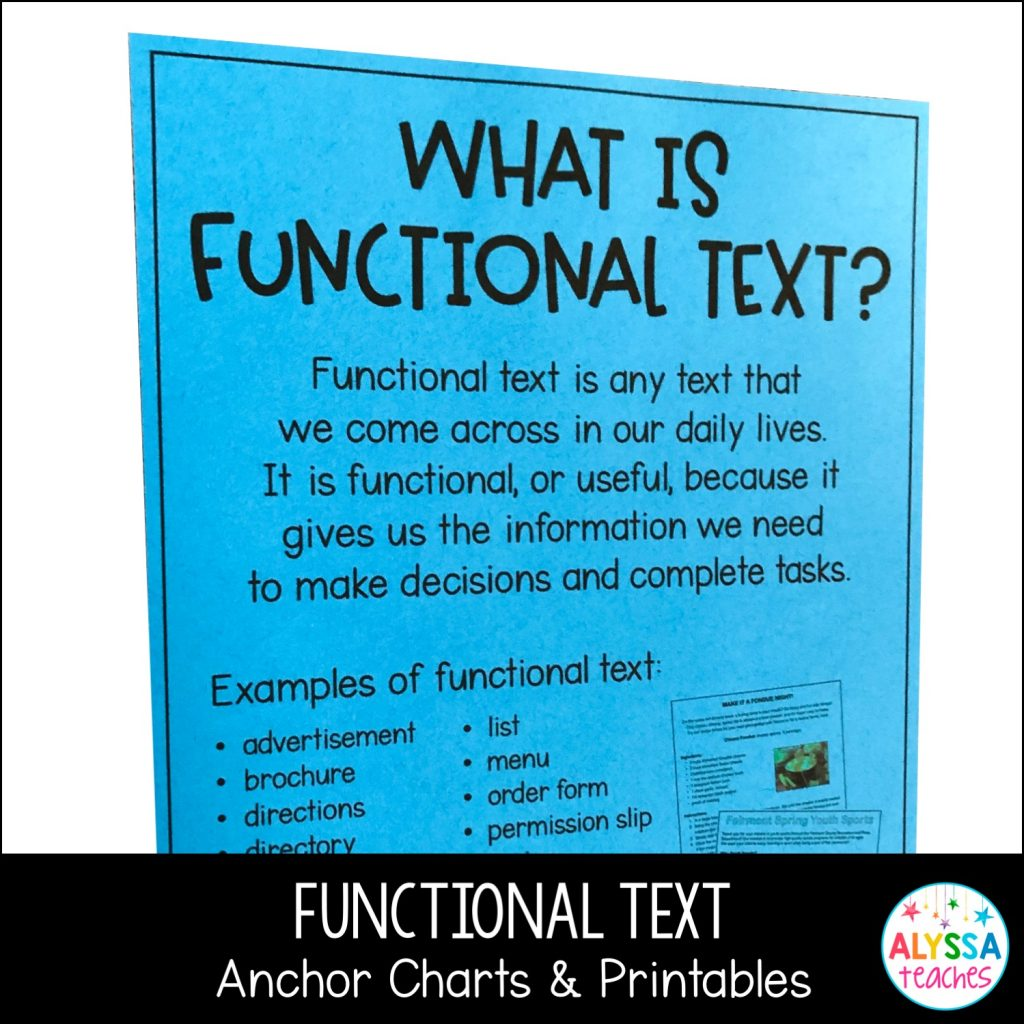 Functional text is an engaging genre that is easy to teach in your upper elementary classroom with these tips! Grab anchor charts and printable worksheets here!