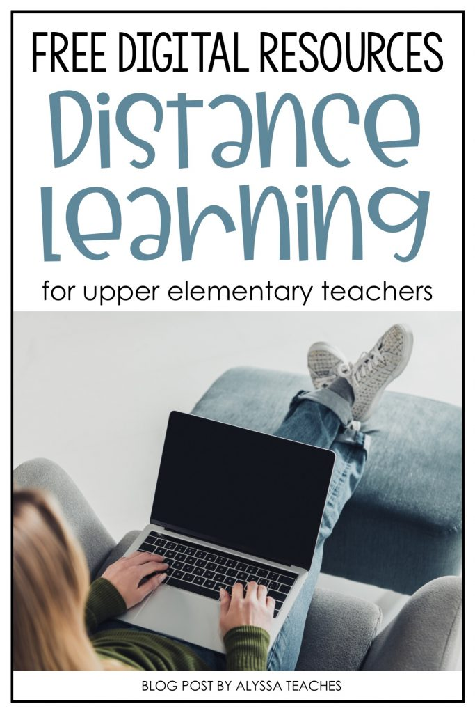 Great list of free 4th and 5th grade digital resources for teachers who need to plan distance learning.
