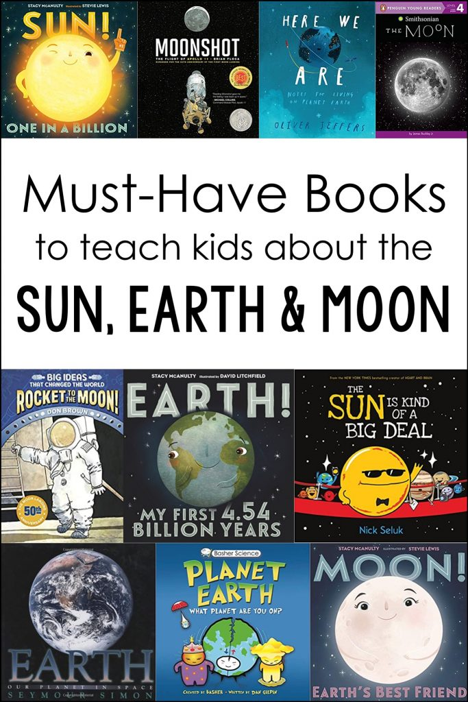 These sun, Earth, and moon books are perfect to add to your classroom or homeschool library to use during an astronomy unit.