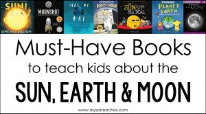 Check out my recommendations for books to read with upper elementary students when teaching the sun, earth, and moon!