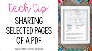 Tips for sharing certain pages from a PDF