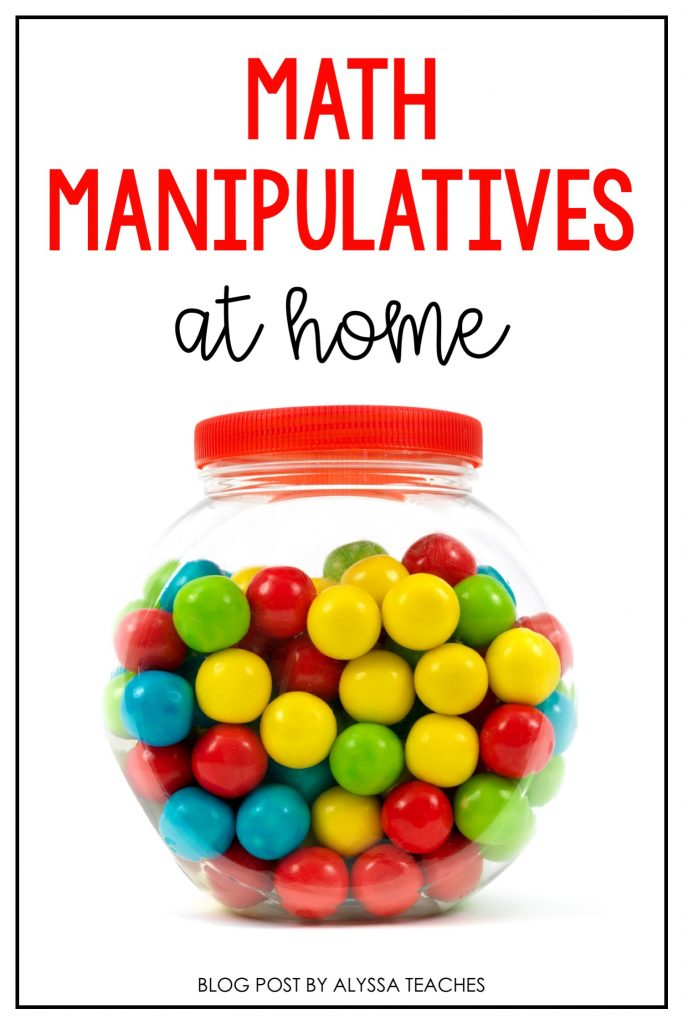 What are math manipulatives, and how can you use them at home to support children's mathematical thinking?