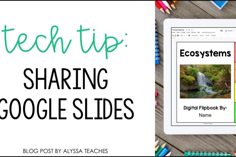 Check out this quick tutorial to learn how to share Google Slides with students!