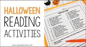 How can you incorporate Halloween into your Language Arts lesson? I love these ideas to use high-interest Halloween-themed reading activities in 3rd, 4th, and 5th grade!
