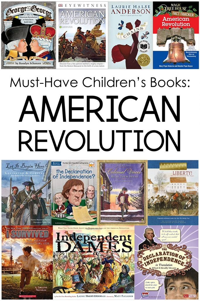 Today I'm sharing my favorite children's books about the American Revolution.
