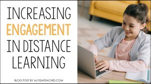 Today I'm sharing 5 tips to increase student engagement while distance learning!
