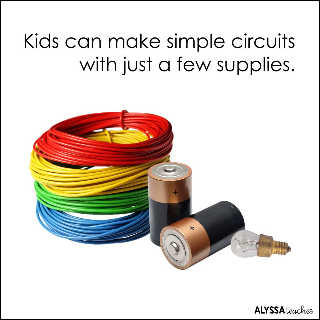 You'll need a few simple household supplies to build electric circuits with kids!