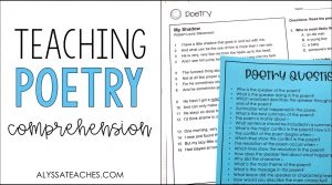 Today I'm sharing tips for getting started teaching poetry comprehension to grade 3, 4, and 5 students.