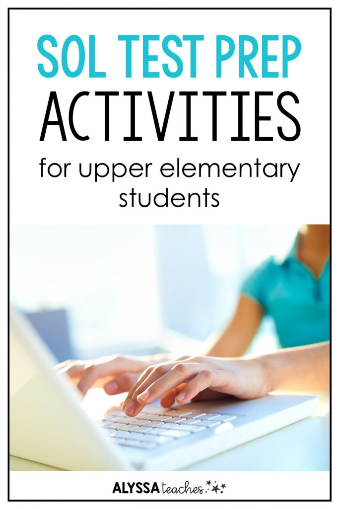 I love using a variety of engaging, hands-on activities for SOL test review with 3rd, 4th, and 5th grade students!
