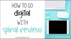 Spiral review activities are possible in the virtual classroom! Let's look at some ways we can repurpose print resources to make engaging digital spiral review activities for elementary students!