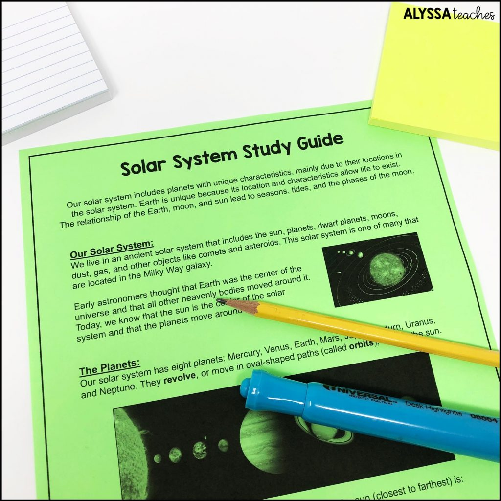 I like to create study guides for the Virginia SOLs that use lots of examples and visual support.