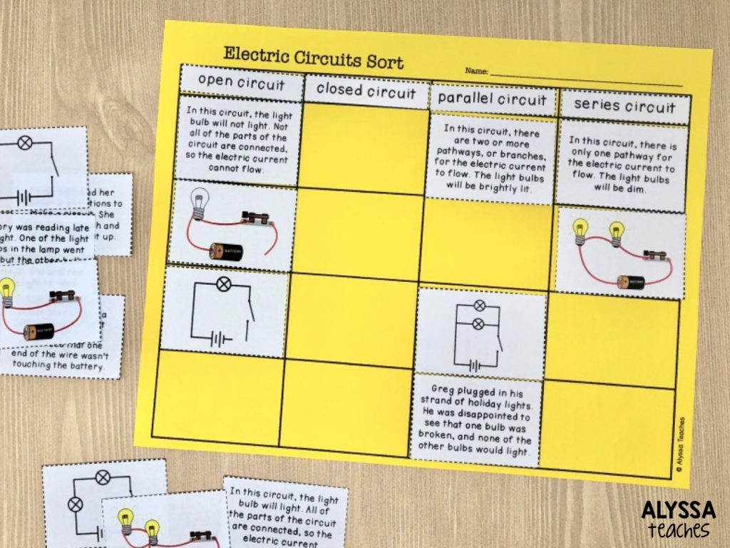 Sorting activities are a nice way to make a pre-test hands-on, and they work in any subject!