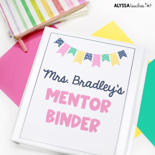 A comprehensive binder is a great way for mentor teachers to stay organized all school year long!