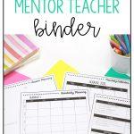 mentor teacher binder pages
