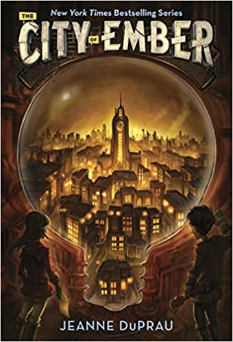 You can read City of Ember to look at community and collaboration.