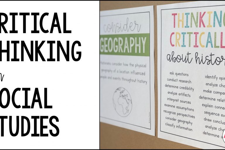 social studies critical thinking activities