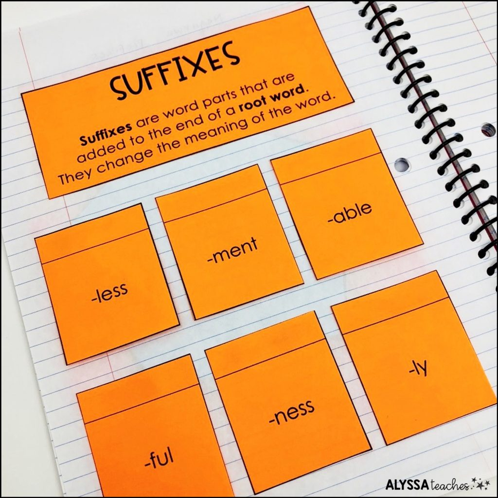 Knowing prefix and suffix meanings is a helpful way for upper elementary students to learn word meanings.
