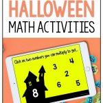 Halloween math Boom cards